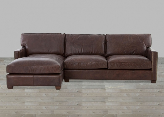 Genuine Leather Sectional With Chaise Vintage Cigar Top Grain Images 52