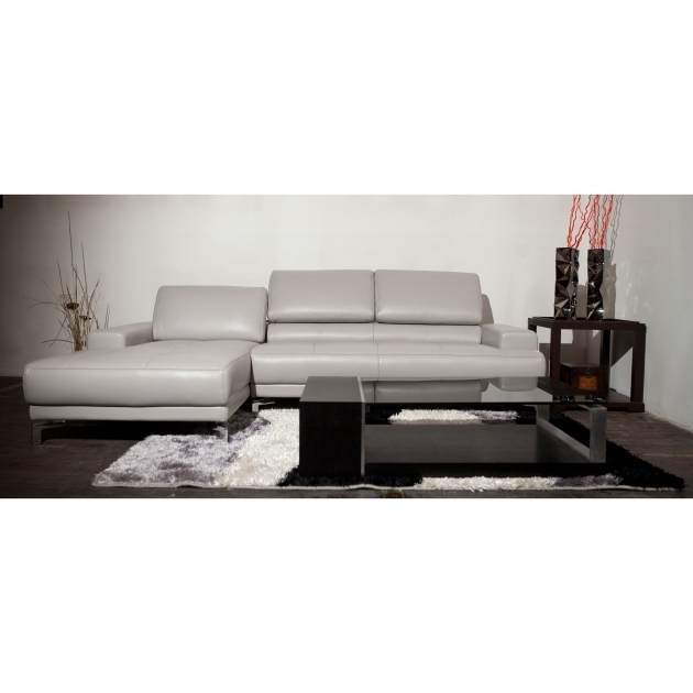 GrayLeather Sectional Sofa With Chaise For Living Room Photos 02