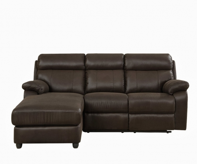 High Back Leather Small Sectional Sofa With Chaise Lounge Images 13