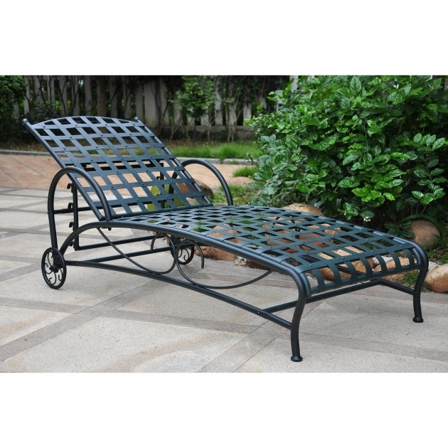 International Caravan Santa Fe Wrought Iron Chaise Lounge Chairs Double Multi Position Images 33