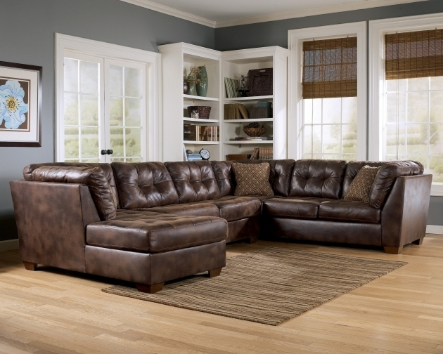 L Black Leather Oversized Chaise Lounge Sofa With Back And Brown Cushions Pictures 63