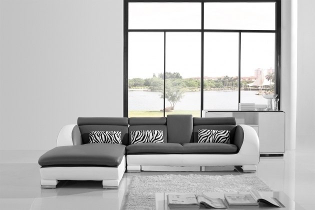 L Shaped Dark Grey Leather Sectional Small Couch With Chaise Lounge Photos 34