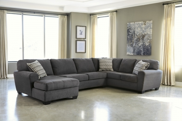 Microfiber Gray Sectional Sofa With Chaise Cheap Photo 75