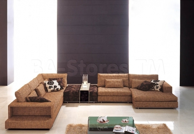 Modular Deep Sectional Sofa With Chaise Brown Microfiber Sectional Sofas Photos 95