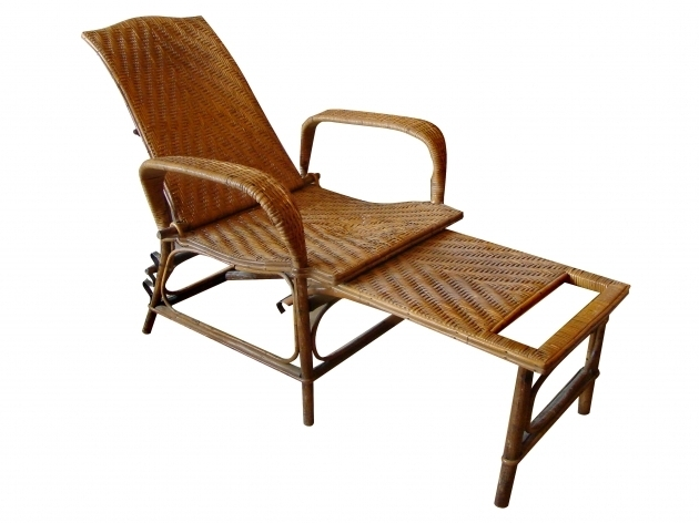 Outdoor Furniture Chaise Lounge Vintage Rattan And Bamboo Image 16