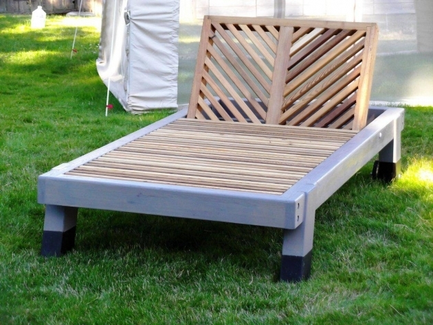 Outdoor Furniture Chaise Lounge Wood Images 87