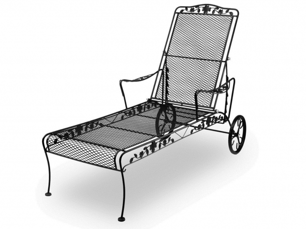 Outdoor Wrought Iron Chaise Lounge Chairs Photos 25