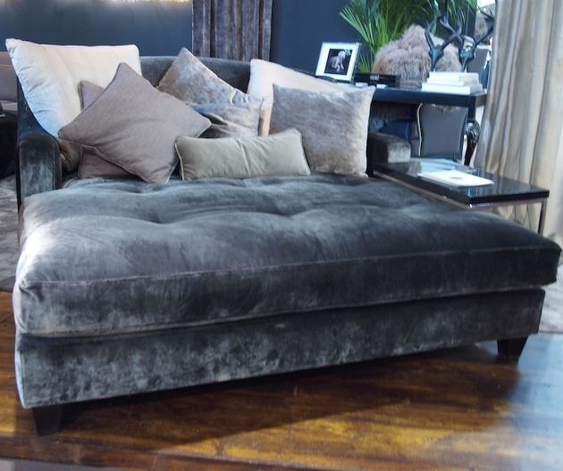 Oversized Chaise Lounge Sofa Velvet Picture 93