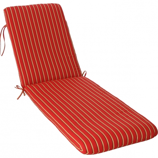 Phat Tommy Outdoor Sunbrella Chaise Lounge Cushions Red Stripe Photo 13