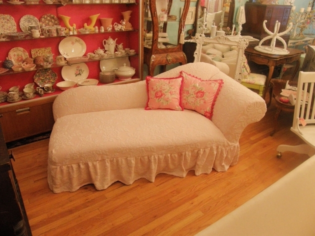 Pink Chaise Lounge Slipcover Indoor Furniture Picture 25