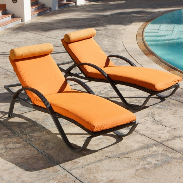 Pool Chaise Lounge Equipped With Unique And Comfy Outdoor Chaise Lounge Colored In Orange Images 89
