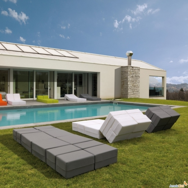 Pool Chaise Lounge Ultra Modern Ideas For Relaxation Contemporary Outdoor Chaise Lounge In Grey And White Pic 51