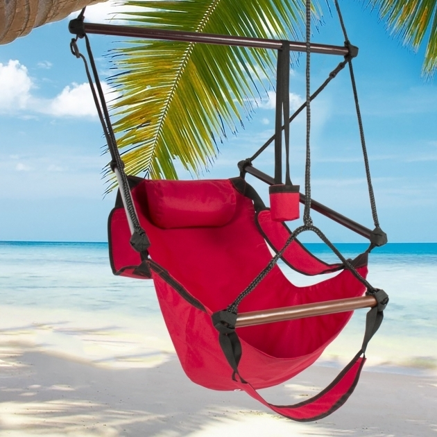 Red Hanging Chaise Lounger Chair Arc Stand Air Porch Swing Hammock Images 43
