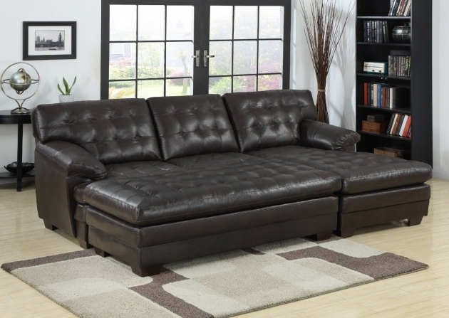 Sectional Sofa With Leather Chaise Lounge And Ottoman Image 63