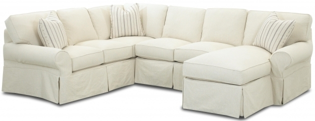 Slipcover Sectional Sofa With Chaise Klaussner Patterns Slipcovered Photo 69