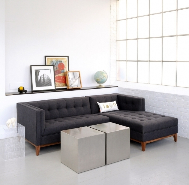 Small Sectional Sofa With Chaise Lounge Apartment Size Modern And Contemporary Atwood Loft Sectional Sofa Photo 78