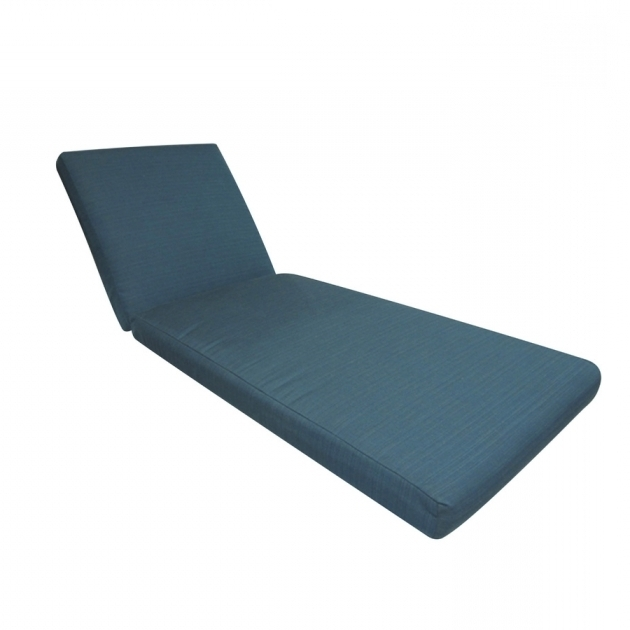 Sunbrella Chaise Lounge Cushions Allen Roth Deep Sea Solid Cushion Photo 24