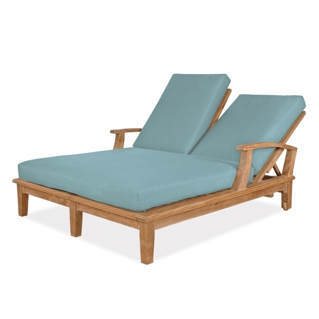 Teak Double Outdoor Furniture Chaise Lounge Images 37