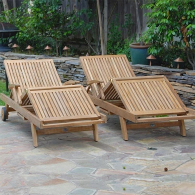 Teak Steamer Outdoor Chaise Lounge Chair Pictures 75