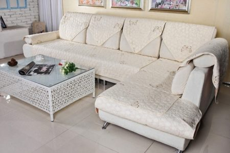 Slipcover Sectional Sofa with Chaise
