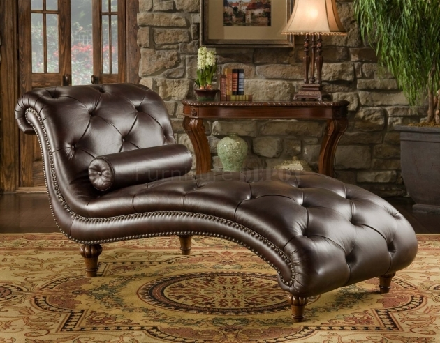 Tufted Leather Chaise Lounge Image 67