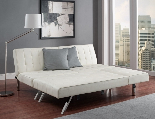White Leather Tufted Futon White Leather Futon With Chaise Lounge Photo 76