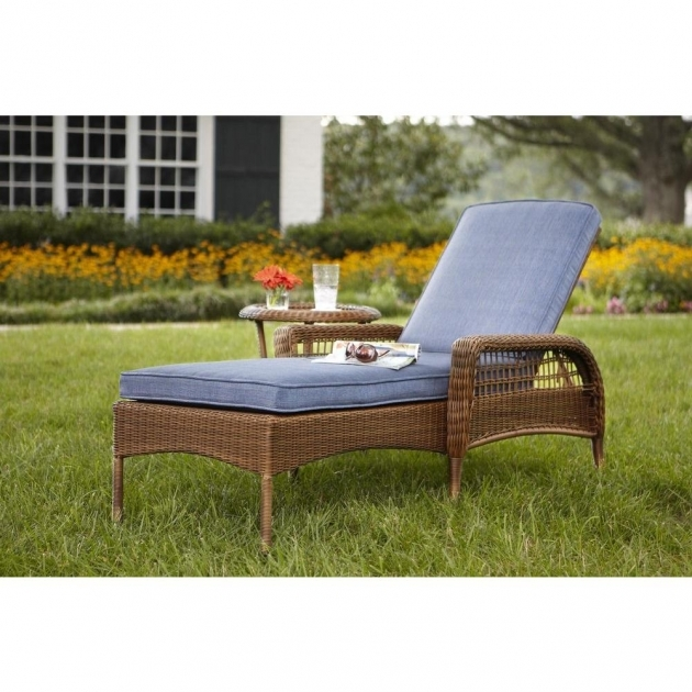 Wicker Chaise Lounge Outdoor Patio Chair Furniture Pics 70
