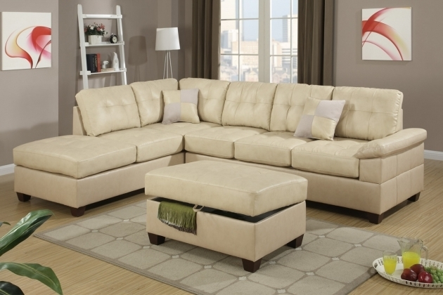 2 Piece Khaki Sectional Sofa With Chaise Ottoman Poundex Pictures 69