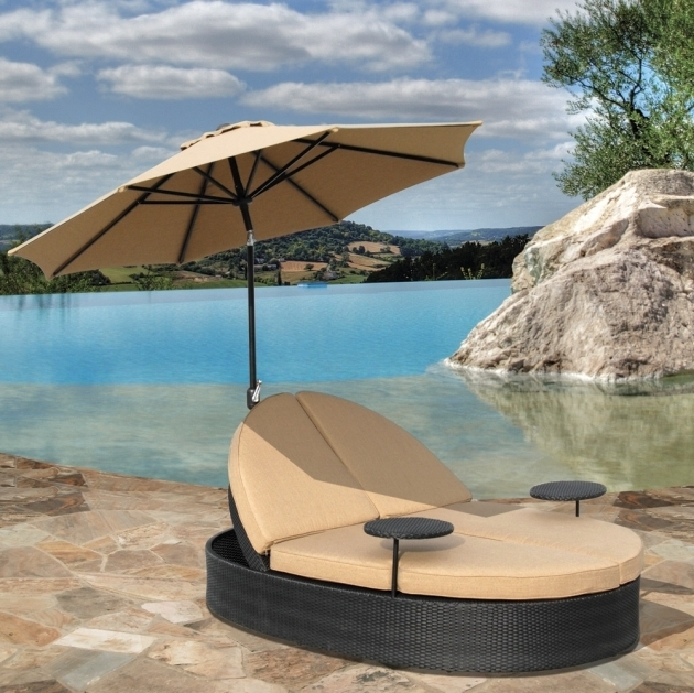 Adorable Outside Chaise Lounge Nuanced In Black And Cream Colors With Stone Flooring Image 53