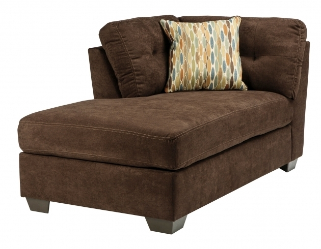 Ashley Furniture Chaise Lounge Delta City Chocolate RAF Corner Chaise Sectional Images 09