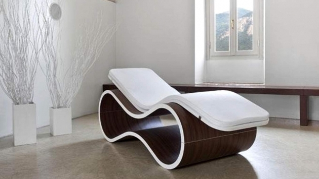 Axis White Faux Leather Chaise Lounge Chairs Indoors Photos 89