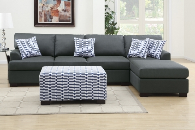 Coastal Dark Grey Sectional Sofa With Reversible Chaise Lounge Images 87