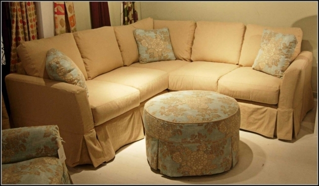 Custom Slipcovered Sofa With Chaise Sectional Sofas  Photos 75