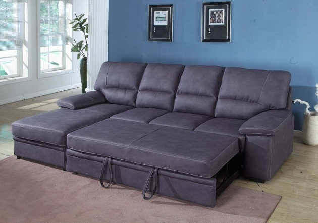 Dark Velvet SSleeper Sectional Sofa With Chaise And Storage  Image 61
