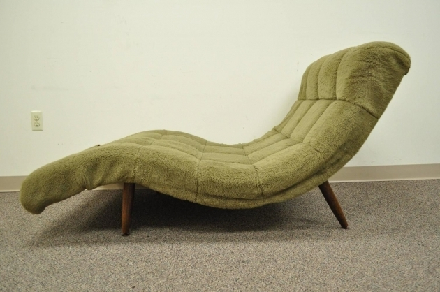 Double Wide Chaise Lounge Furniture With Mid Century Modern Design Picture 00