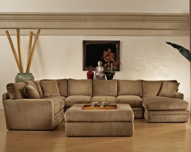 Fabric Sectional Sofa With Recliner And Chaise Lounge And Ottoman Table Set Image 34
