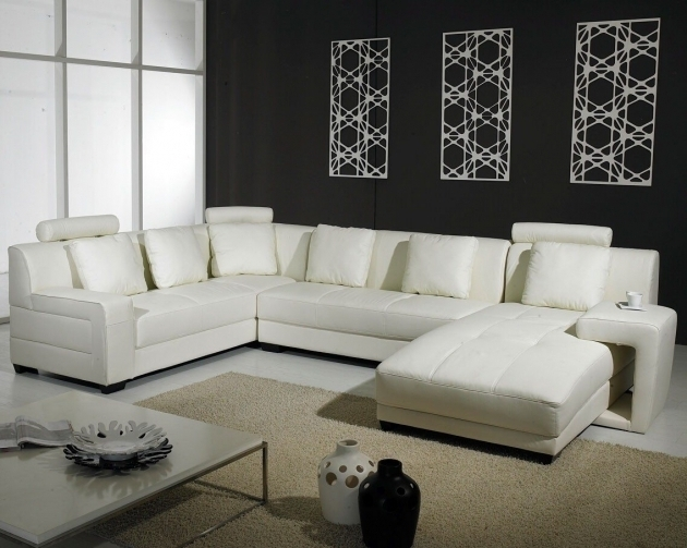 Genuine Leather Sectionals With Chaise White Pictures 63