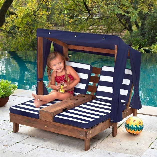Kidkraft Double Chaise Lounge Patio Furniture Pool Child Relaxation Picture 44