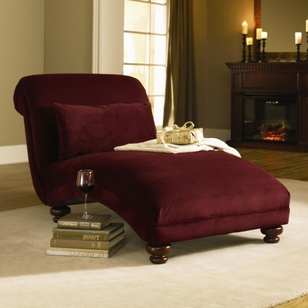 Large Red Velvet Chaise Lounge Chairs Indoors With Rolled Backrest And Rectangle Cushions Pictures 12