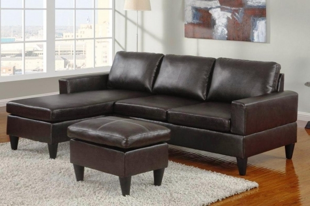 Leather Chaise Lounge Sofa With Ottoman Image 60