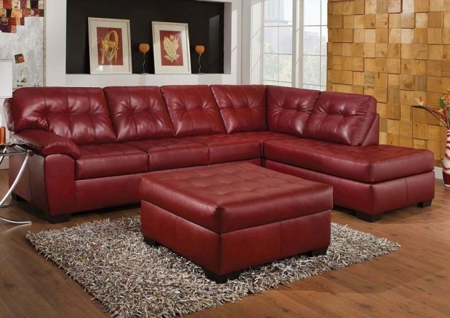 Leather Sectionals With Chaise Simmons Collection Cardinal Red Bonded Leather Left Facing Photo 76