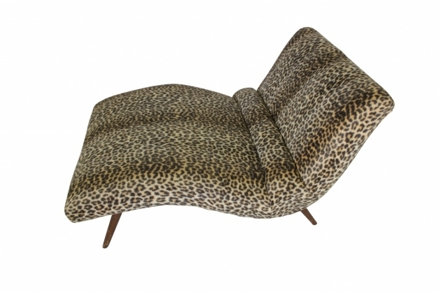 Leopard chaise lounge animal print adrian pearsall style for Animal print chaise