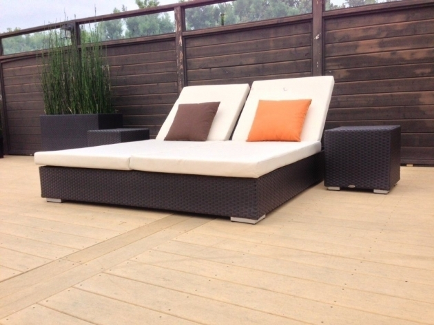 Outdoor double chaise lounge cushions patio sale images 38 for Chaise cushion sale