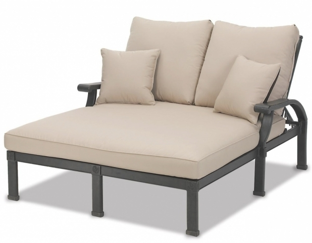 Hanamint grand tuscany double chaise lounge cushions patio for Chaise cushions sale