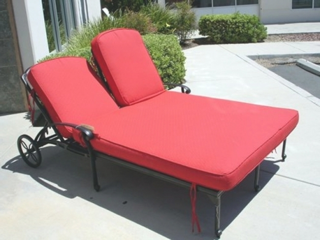 Outdoor Double Chaise Lounge Cushions Patio Sale Images 38