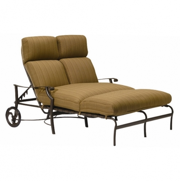 Outdoor Furniture Double Chaise Lounge Cushions With Wheels Image 86