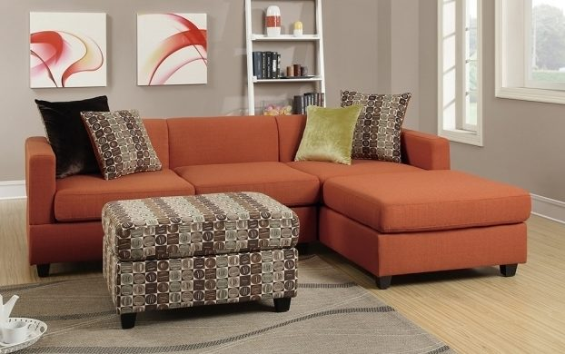 Poundex Bobkona Dayton Sofa With Reversible Chaise Lounge Sectional  Images 74