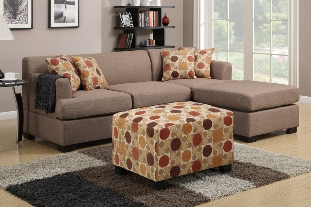 Poundex F7966 Beige Fabric Sofa With Reversible Chaise Lounge Furniture Pictures 56