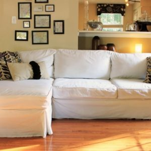 Slipcovered Sofa with Chaise