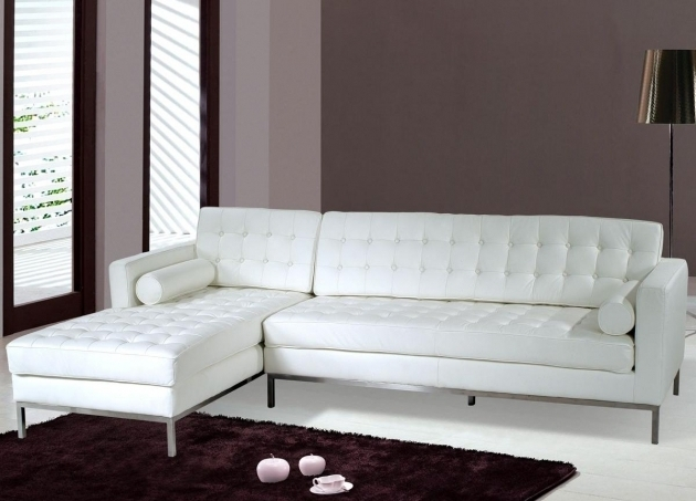 Small White Leather Sectionals With Chaise Photo 17